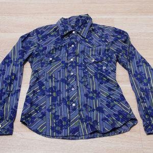 Patagonia Women's Button Down Shirt Small Blue
